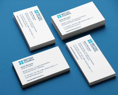 Carti de vizita - carton standard taiate la format