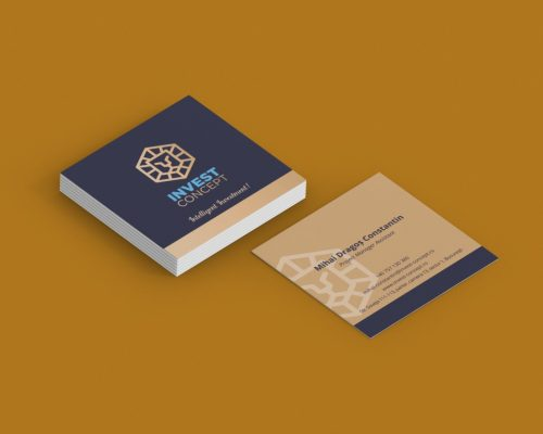 Carti de vizita printate online, patrate, formate atipice
